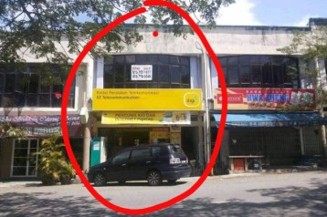 Kluang Double Story Shop lot