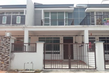 taman scientex senai double storey